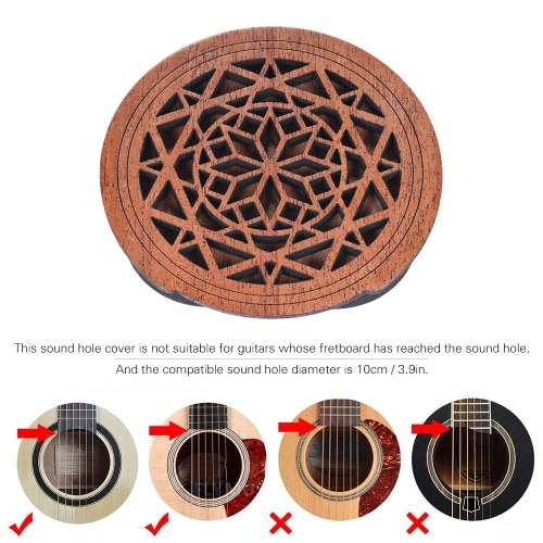 Guitar Wooden Soundhole Sound Hole Cover Block Feedback Buffer Mahogany Wood for EQ Acoustic Folk GuitarsToys &amp; Hobbies<br>Guitar Wooden Soundhole Sound Hole Cover Block Feedback Buffer Mahogany Wood for EQ Acoustic Folk Guitars<br>