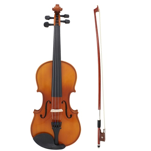 Full Size 4/4 Natural Acoustic Solid Wood Spruce Flame Maple Veneer Violin Fiddle for Beginner Student Performer with Case Rosin WToys &amp; Hobbies<br>Full Size 4/4 Natural Acoustic Solid Wood Spruce Flame Maple Veneer Violin Fiddle for Beginner Student Performer with Case Rosin W<br>