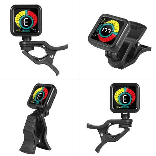 Black Square Premium Clip Tuner Guitar Bass Violin Ukelele Chromatic Mode with Full Color Colorful Display for All Musical InstrumToys &amp; Hobbies<br>Black Square Premium Clip Tuner Guitar Bass Violin Ukelele Chromatic Mode with Full Color Colorful Display for All Musical Instrum<br>