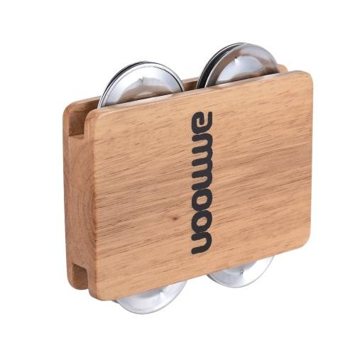 ammoon Cajon Box Drum Companion Accessory 4-bell Jingle Castanet for Hand Percussion InstrumentsToys &amp; Hobbies<br>ammoon Cajon Box Drum Companion Accessory 4-bell Jingle Castanet for Hand Percussion Instruments<br>