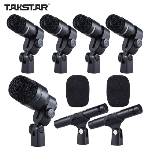 TAKSTAR DMS-D7 Professional Musical Instruments Drum Set Wired Microphone Mic KitToys &amp; Hobbies<br>TAKSTAR DMS-D7 Professional Musical Instruments Drum Set Wired Microphone Mic Kit<br>