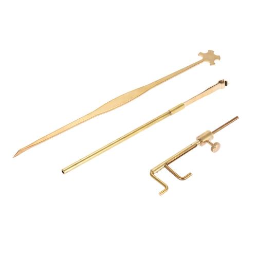 Violin Luthier Tools Kit Set Sound Post Gauge Measurer &amp; Retriever Clip &amp; Setter BrassToys &amp; Hobbies<br>Violin Luthier Tools Kit Set Sound Post Gauge Measurer &amp; Retriever Clip &amp; Setter Brass<br>
