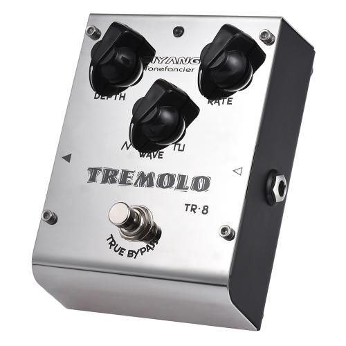BIYANG TR-8 Tonefacier Series Tremolo Guitar Effect Pedal True Bypass Full Metal ShellToys &amp; Hobbies<br>BIYANG TR-8 Tonefacier Series Tremolo Guitar Effect Pedal True Bypass Full Metal Shell<br>
