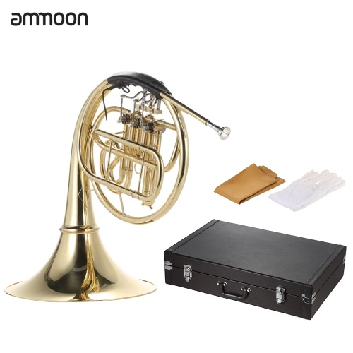 ammoon French Horn B/Bb Flat 3 Key Brass Gold Lacquer Single-Row Split Wind InstrumentToys &amp; Hobbies<br>ammoon French Horn B/Bb Flat 3 Key Brass Gold Lacquer Single-Row Split Wind Instrument<br>