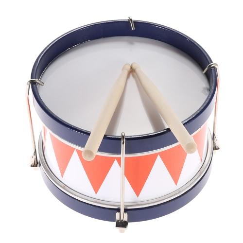 Красочные детей дети Toddler барабан Музыкальная игрушка ударный инструмент с барабаном палочки ремень
