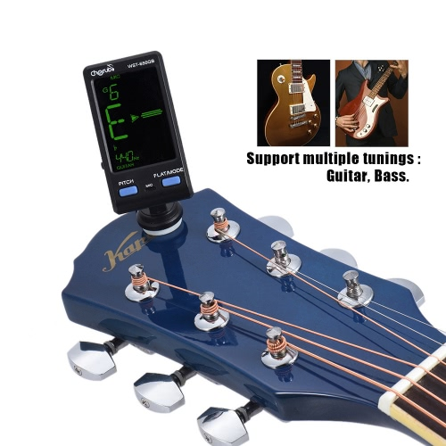 Cherub WST-650GB Professional Tuner for Guitar Bass Clip-on/Mic Pickup Mode Support Pitch / Flat Adjustment 360° Rotatable Large CToys &amp; Hobbies<br>Cherub WST-650GB Professional Tuner for Guitar Bass Clip-on/Mic Pickup Mode Support Pitch / Flat Adjustment 360° Rotatable Large C<br>