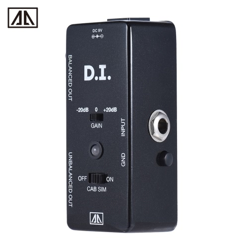 AROMA AMX-5 Cabinet Simulator DI Box Guitar Effect Pedal Transfers Guitar/ Bass Signal Directly to Audio System Aluminum Alloy BodToys &amp; Hobbies<br>AROMA AMX-5 Cabinet Simulator DI Box Guitar Effect Pedal Transfers Guitar/ Bass Signal Directly to Audio System Aluminum Alloy Bod<br>