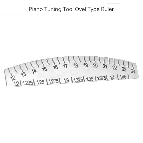 Piano Tuner Music Wire String Gauge Measurer Tuning Tool Ruler Ovel Type Stainless Steel Numbers 12-24Toys &amp; Hobbies<br>Piano Tuner Music Wire String Gauge Measurer Tuning Tool Ruler Ovel Type Stainless Steel Numbers 12-24<br>