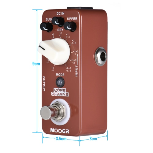 MOOER PURE OCTAVE Mini Octave Guitar Effect Pedal 11 Octave Modes True Bypass Full Metal ShellToys &amp; Hobbies<br>MOOER PURE OCTAVE Mini Octave Guitar Effect Pedal 11 Octave Modes True Bypass Full Metal Shell<br>