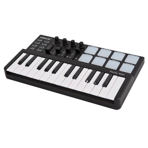 Worlde Panda 25鍵USBキーボードとドラムパッドMIDIコントローラ