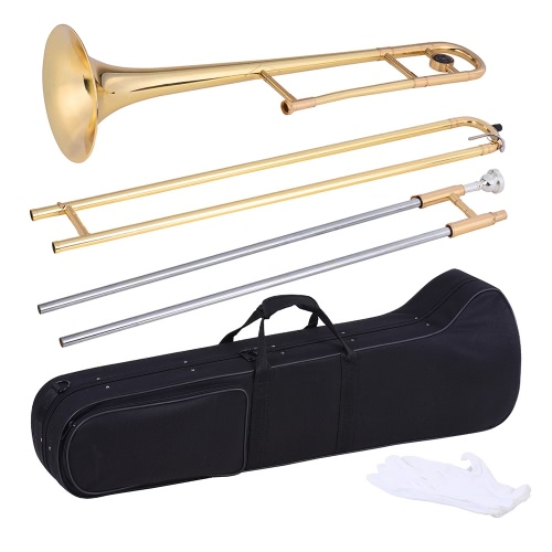 ammoon Alto Trombone Brass Gold Lacquer Bb Tone B flat Wind Instrument with Cupronickel Mouthpiece Cleaning Stick CaseToys &amp; Hobbies<br>ammoon Alto Trombone Brass Gold Lacquer Bb Tone B flat Wind Instrument with Cupronickel Mouthpiece Cleaning Stick Case<br>