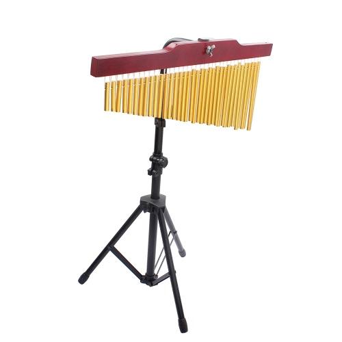 36-tom dourado Bar Chimes 36 barras único-fileira carrilhão Musical percussão instrumento de sopro com tripé e atacante