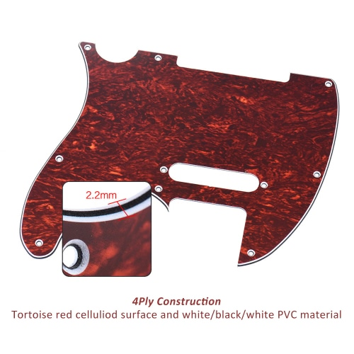 Pickguard Pick Guard 4Ply for Fender Telecaster Standard Modern Style Electric Guitar Tortoise Shell RedToys &amp; Hobbies<br>Pickguard Pick Guard 4Ply for Fender Telecaster Standard Modern Style Electric Guitar Tortoise Shell Red<br>