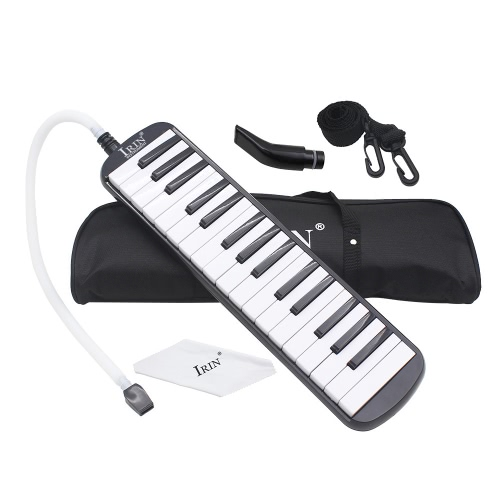 32ピアノのキー初心者の子供の子供のギフトのためのメロディカ音楽教育機器バッグブラックキャリング付き