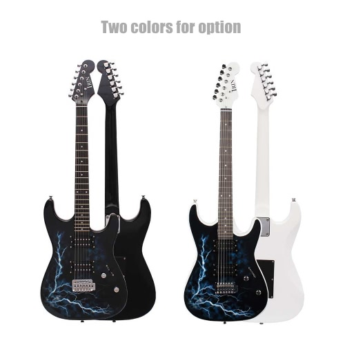 Dual Dual Pickups Electric Guitar Basswood Body Rosewood Fingerboard Cool Lightning Design with Gig Bag Picks Strap for BeginnerToys &amp; Hobbies<br>Dual Dual Pickups Electric Guitar Basswood Body Rosewood Fingerboard Cool Lightning Design with Gig Bag Picks Strap for Beginner<br>