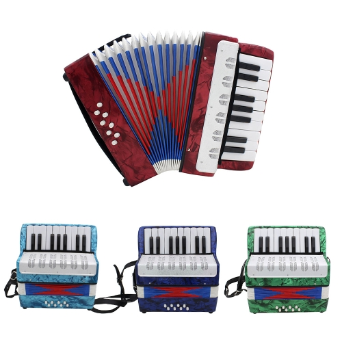 Mini Small 17-Key 8 Bass Accordion Educational Musical Instrument Toy for Kids Children Amateur Beginner Christmas GiftToys &amp; Hobbies<br>Mini Small 17-Key 8 Bass Accordion Educational Musical Instrument Toy for Kids Children Amateur Beginner Christmas Gift<br>