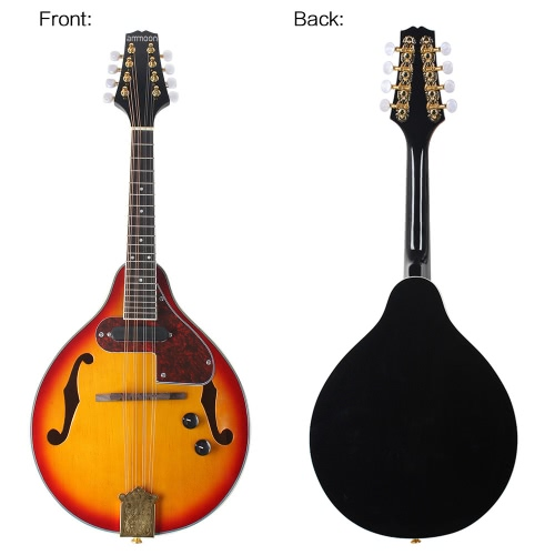ammoon Adjustable 8-String Electric A Style Mandolin Rosewood Fingerboard String Instrument with Cable Strings Cleaning ClothToys &amp; Hobbies<br>ammoon Adjustable 8-String Electric A Style Mandolin Rosewood Fingerboard String Instrument with Cable Strings Cleaning Cloth<br>