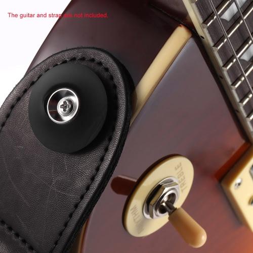 4 Pair Bass Guitar Strap Rubber Locks Blocks