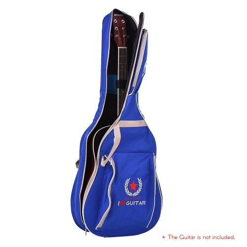 41 Acoustic Guitar Bag Case Backpack Adjustable Shoulder Strap Padded with Cotton Deep BlueToys &amp; Hobbies<br>41 Acoustic Guitar Bag Case Backpack Adjustable Shoulder Strap Padded with Cotton Deep Blue<br>