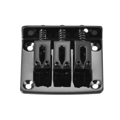 3-string Guitar Bridge Tailpiece-BlackToys &amp; Hobbies<br>3-string Guitar Bridge Tailpiece-Black<br>
