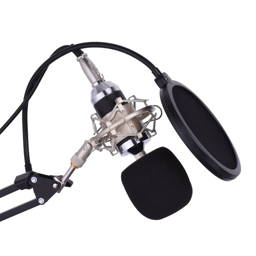 Professional Studio Broadcasting Recording Condenser Microphone Mic Kit Set 3.5mm with Shock Mount Adjustable Suspension Scissor AToys &amp; Hobbies<br>Professional Studio Broadcasting Recording Condenser Microphone Mic Kit Set 3.5mm with Shock Mount Adjustable Suspension Scissor A<br>