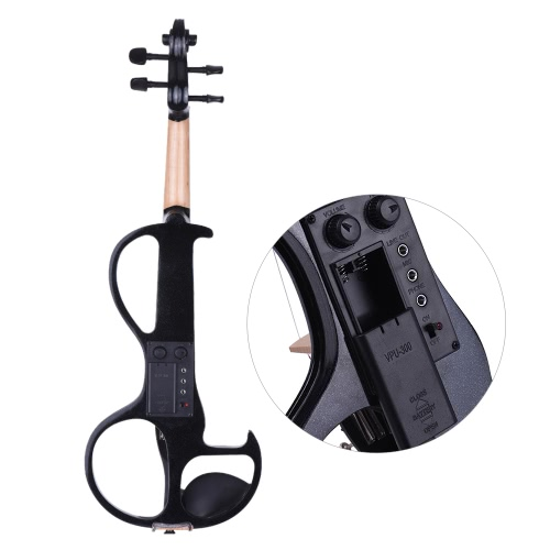 ammoon Full Size 4/4 Solid Wood Electric Silent Violin Fiddle Style-3 Ebony Fingerboard Pegs Chin Rest Tailpiece with Bow Hard CasToys &amp; Hobbies<br>ammoon Full Size 4/4 Solid Wood Electric Silent Violin Fiddle Style-3 Ebony Fingerboard Pegs Chin Rest Tailpiece with Bow Hard Cas<br>