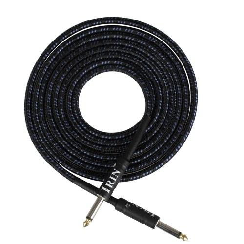Guitarra eléctrica Bajo Cable Instrumento musical Cable de audio 1/4 pulgada a 1/4 pulgada TS Tapones rectos, 3 metros / 10 pies