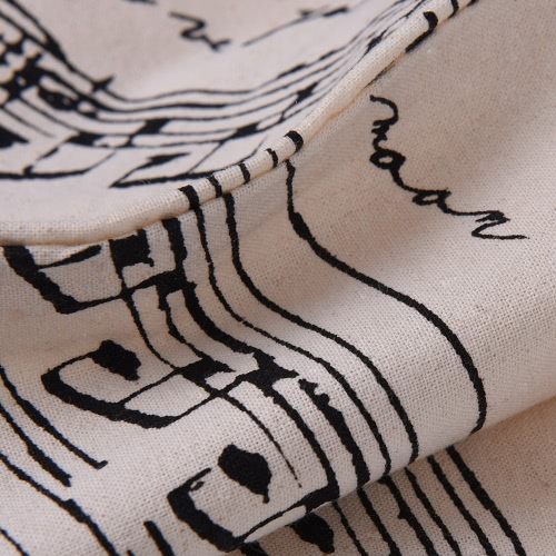 Musical Notation Pattern Washable Cotton Cloth Handbag Music Tote Shoulder Grocery Shopping Bag for Students GirlsToys &amp; Hobbies<br>Musical Notation Pattern Washable Cotton Cloth Handbag Music Tote Shoulder Grocery Shopping Bag for Students Girls<br>