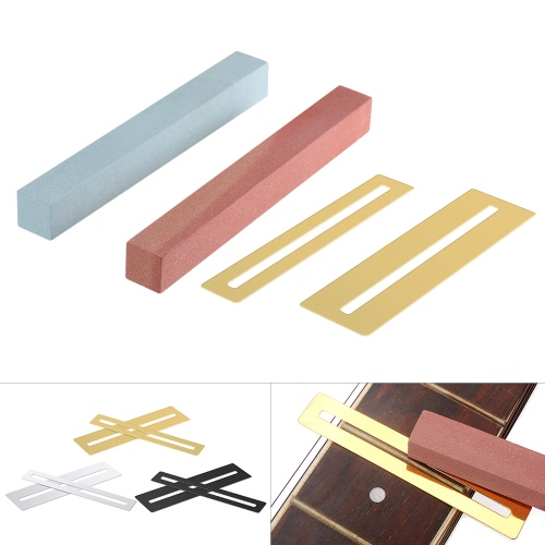2pcs Stainless Steel Fretboard Guard Protector &amp; 2pcs Guitar Bass Neck Fretwire Polish Cleaning Beam Stone Stander Luthier Tool SeToys &amp; Hobbies<br>2pcs Stainless Steel Fretboard Guard Protector &amp; 2pcs Guitar Bass Neck Fretwire Polish Cleaning Beam Stone Stander Luthier Tool Se<br>