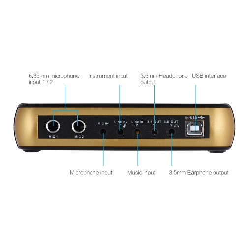 Multifunctional Digital USB Audio Mixer External Sound Card Network Online Recording Singing Device with USB &amp; Audio Cable for KarToys &amp; Hobbies<br>Multifunctional Digital USB Audio Mixer External Sound Card Network Online Recording Singing Device with USB &amp; Audio Cable for Kar<br>