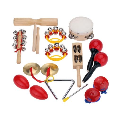 Andoer Percussion Kit Enfants Instruments de Musique Jouets Band Rhythm Kit avec Etui