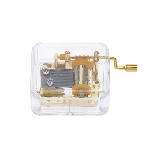 Unique Musical Box Acrylic Hand Crank Music Box Golden Movement Melody Castle in the SkyToys &amp; Hobbies<br>Unique Musical Box Acrylic Hand Crank Music Box Golden Movement Melody Castle in the Sky<br>