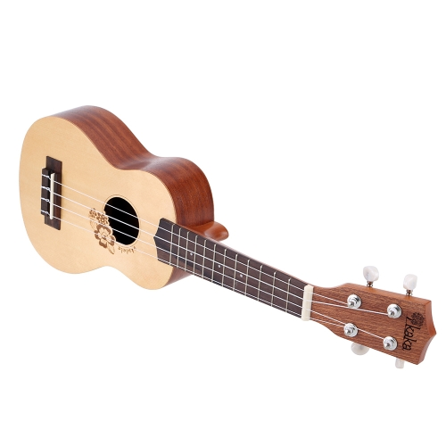 KaKa KUS-FL 21 Inch Soprano 4 Strings Ukulele Spruce Engraving Top Sapele Back &amp; Side with Strap Lock Buttons and Thick Bag for KiToys &amp; Hobbies<br>KaKa KUS-FL 21 Inch Soprano 4 Strings Ukulele Spruce Engraving Top Sapele Back &amp; Side with Strap Lock Buttons and Thick Bag for Ki<br>