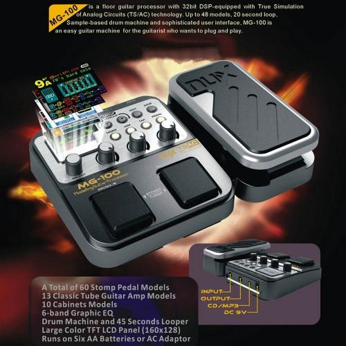 NUX MG-100 Modeling Guitar Processor Guitar Effect Pedal Drum Tuner Recorder 58 Effect 72 Preset Multi-functionToys &amp; Hobbies<br>NUX MG-100 Modeling Guitar Processor Guitar Effect Pedal Drum Tuner Recorder 58 Effect 72 Preset Multi-function<br>
