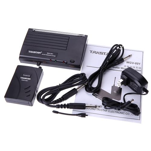 Takstar WGV-601 Electric Guitar Bass Wireless System Amplifier Audio Transmission Transmitter Receiver KitToys &amp; Hobbies<br>Takstar WGV-601 Electric Guitar Bass Wireless System Amplifier Audio Transmission Transmitter Receiver Kit<br>