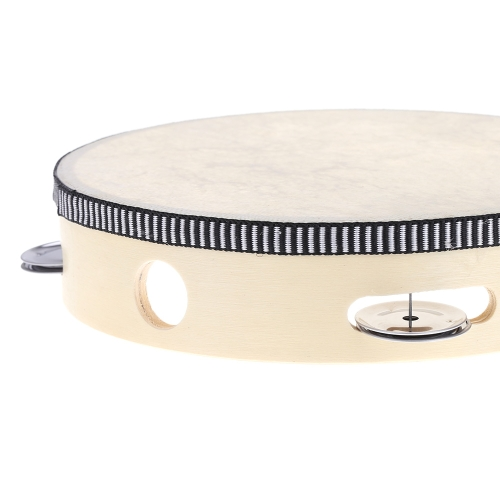 8 Hand Held Tambourine Drum Bell Birch Metal Jingles Percussion Musical Educational Toy Instrument for KTV Party Kids GamesToys &amp; Hobbies<br>8 Hand Held Tambourine Drum Bell Birch Metal Jingles Percussion Musical Educational Toy Instrument for KTV Party Kids Games<br>