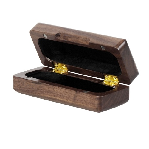 Wooden Saxophone Sax Mouthpiece Holder Case Box Solid Wood