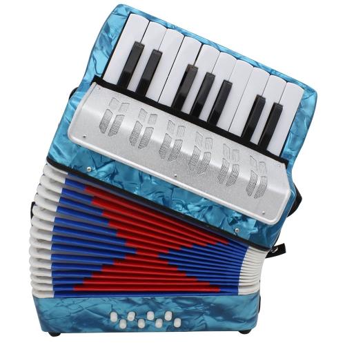 ミニ小型17キー8低音のアコーディオン教育楽器玩具 子供/アマチュア/初心者のために適用 クリスマスギフト グリーン