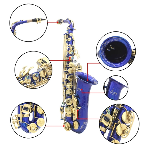 LADE Brass Engraved Eb E-Flat Alto Saxophone Sax Abalone Shell Buttons Wind Instrument with Case Gloves Cleaning Cloth Grease BeltToys &amp; Hobbies<br>LADE Brass Engraved Eb E-Flat Alto Saxophone Sax Abalone Shell Buttons Wind Instrument with Case Gloves Cleaning Cloth Grease Belt<br>