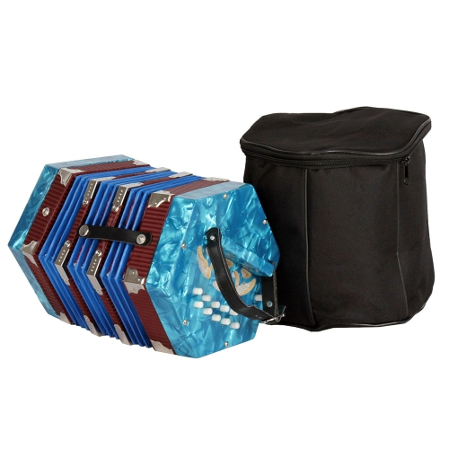 Concertina Accordion 20-Button 40-Reed Anglo Style with Carrying BagToys &amp; Hobbies<br>Concertina Accordion 20-Button 40-Reed Anglo Style with Carrying Bag<br>