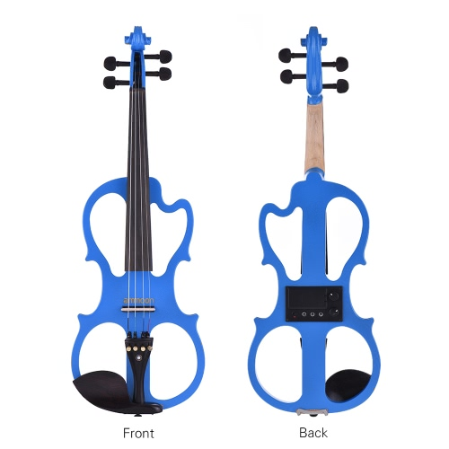 ammoon VE-201 Full Size 4/4 Solid Wood Silent Electric Violin Fiddle Maple Body Ebony Fingerboard Pegs Chin Rest Tailpiece with BoToys &amp; Hobbies<br>ammoon VE-201 Full Size 4/4 Solid Wood Silent Electric Violin Fiddle Maple Body Ebony Fingerboard Pegs Chin Rest Tailpiece with Bo<br>