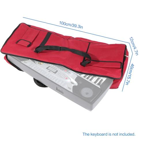 61-Key Keyboard Electric Piano Organ Gig Bag Soft Case Dual Zipper 39.3 * 15.7 600D Cloth PE Foam PaddedToys &amp; Hobbies<br>61-Key Keyboard Electric Piano Organ Gig Bag Soft Case Dual Zipper 39.3 * 15.7 600D Cloth PE Foam Padded<br>