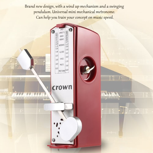 Portable Mini Mechanical Metronome Universal Metronome 11cm Height for Piano Guitar Violin Ukulele Chinese Zither Music InstrumentToys &amp; Hobbies<br>Portable Mini Mechanical Metronome Universal Metronome 11cm Height for Piano Guitar Violin Ukulele Chinese Zither Music Instrument<br>