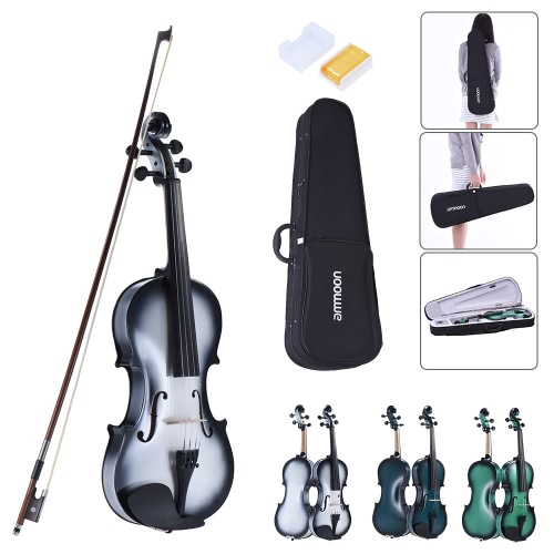 ammoon 1/4 Size Basswood Violin Maple Scroll Fingerboard Pegs Aluminum Alloy Tailpiece with High Quality Rosin Bow Violin Case GraToys &amp; Hobbies<br>ammoon 1/4 Size Basswood Violin Maple Scroll Fingerboard Pegs Aluminum Alloy Tailpiece with High Quality Rosin Bow Violin Case Gra<br>