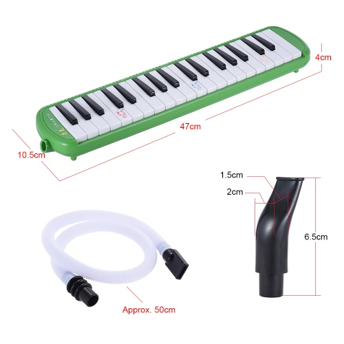 QIMEI QM37A-9 37 Piano Style Keys Melodica Musical Education Instrument for Beginner Kids Children Gift with Carrying Bag GreenToys &amp; Hobbies<br>QIMEI QM37A-9 37 Piano Style Keys Melodica Musical Education Instrument for Beginner Kids Children Gift with Carrying Bag Green<br>