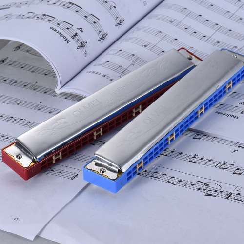 QIMEI QM24A-15 24 Holes Harmonica Tremolo Mouth Organ Key of C with Box for Beginner Student RedToys &amp; Hobbies<br>QIMEI QM24A-15 24 Holes Harmonica Tremolo Mouth Organ Key of C with Box for Beginner Student Red<br>
