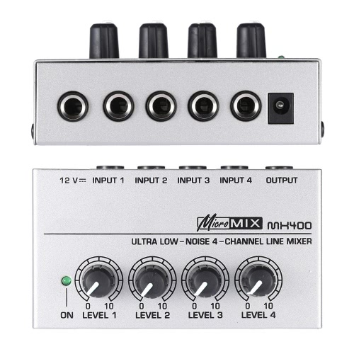 MX400 Ultra-compact Low Noise 4 Channels Line Mono Audio Mixer with Power AdapterToys &amp; Hobbies<br>MX400 Ultra-compact Low Noise 4 Channels Line Mono Audio Mixer with Power Adapter<br>