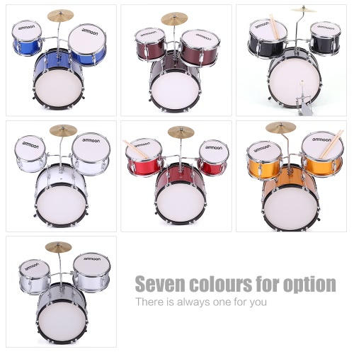 ammoon 3-Piece Kids Children Junior Drum Set Drums Kit Percussion Musical Instrument with Cymbal Drumsticks Adjustable StoolToys &amp; Hobbies<br>ammoon 3-Piece Kids Children Junior Drum Set Drums Kit Percussion Musical Instrument with Cymbal Drumsticks Adjustable Stool<br>