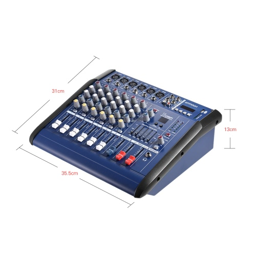 ammoon 6 Channels Digital Mic Line Audio Mixing Console Power Mixer Amplifier with 48V Phantom Power USB/ SD Slot for Recording DJToys &amp; Hobbies<br>ammoon 6 Channels Digital Mic Line Audio Mixing Console Power Mixer Amplifier with 48V Phantom Power USB/ SD Slot for Recording DJ<br>