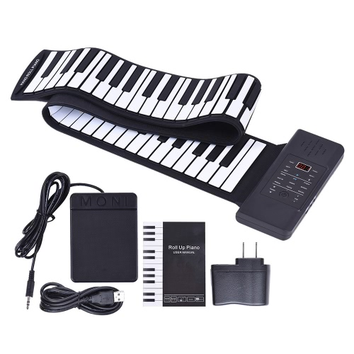 Portable Silicon 88 Keys Hand Roll Up Piano Electronic USB Keyboard Built-in Li-ion Battery and Loud Speaker with One PedalToys &amp; Hobbies<br>Portable Silicon 88 Keys Hand Roll Up Piano Electronic USB Keyboard Built-in Li-ion Battery and Loud Speaker with One Pedal<br>